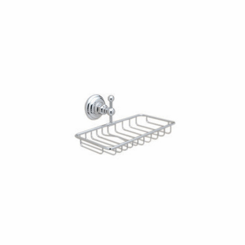 ROHL A1493APC Rohl Country Bath Wall Mounted Double Soap Basket Holder In Polished Chrome
