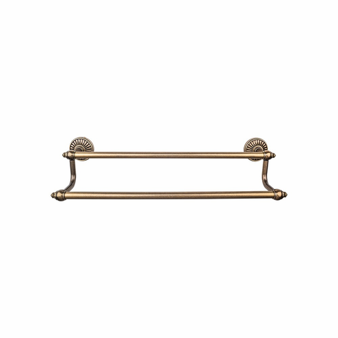 "Top Knobs TUSC9GBZ Tuscany Bath 24"" Double Towel Bar - German Bronze"