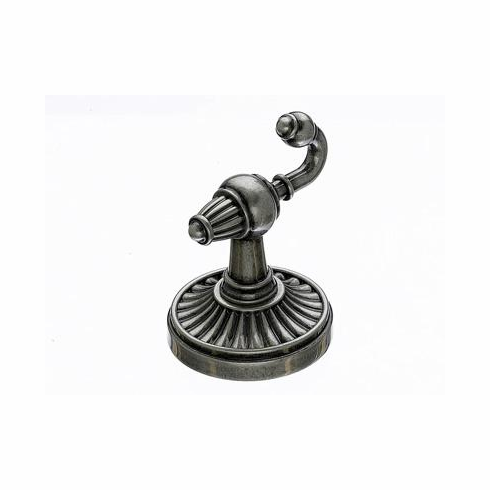 Top Knobs TUSC2PTA Tuscany Bath Double Hook - Antique Pewter