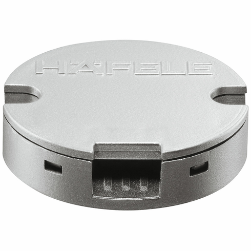 Hafele 833.89.087 LOOX LED Switch, capacitive on/off dimmer, plastic, silver colored, 35mm dia.