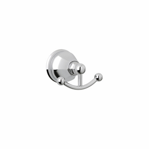 ROHL A6881PN Rohl Palladian Wall Mounted Double Robe Hook Clothes Hanger In Polished Nickel