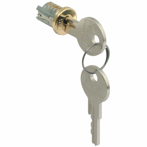 Hafele 210.04.633 Lock Core, zinc, nickel polished, keyed alike, key change 102TA (each)
