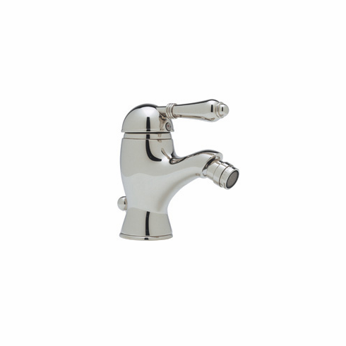 ROHL A3403LPSTN Rohl Country Bath Viaggio Single Lever Bidet Faucet With Swivel Aerator In Satin Nickel With Single Porcelain Lever And Pop-Up