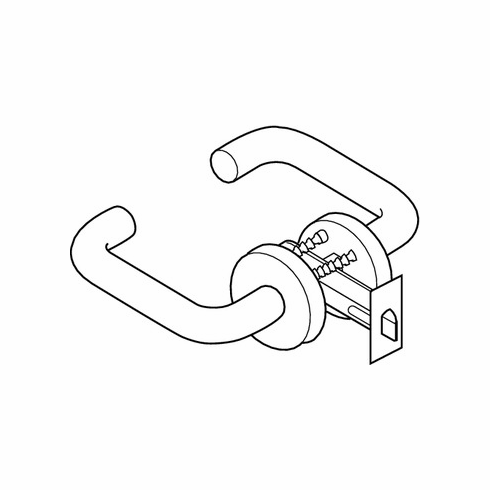 Hafele 911.70.099 Lever Handle, for 1 3/8 inch door thickness, polyamide, white, 2 3/8 inch backset