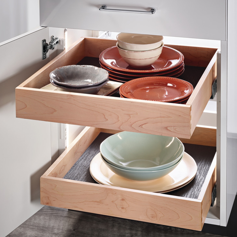 """Hafele 557.59.127 Rollout Tray, for 24"""" frameless cabinet, 3 1/2"""" x 20 1/16"""" x 21 1/8"""", maple"""