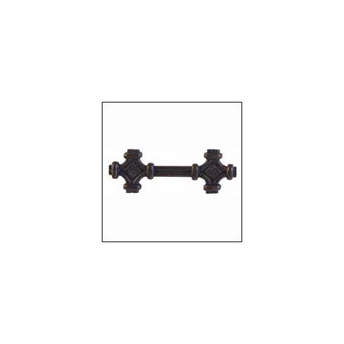 Waterwood Rustic Collection 110-ORB ; 110 ORB Celtic Knot Pull Dimension 4 3/4 x 1 1/4 inch Projection 7/8 inch Oil Rubbed Bronze