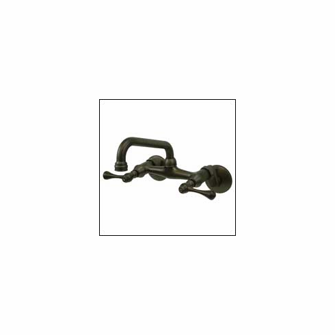 """Kingston Brass KS313ORB Victorian Wall Mount Kitchen Faucet 3 1/2 To 8 1/2 """" Spread Oil Rubbed Bronze"""