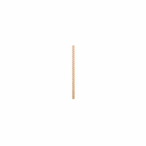 """Rope Moulding: RMH38TOK-8: 3/8"""" Tight Twist Rope Moulding Half Round Species: Oak Sold in 8ft Pieces (set of 20)"""