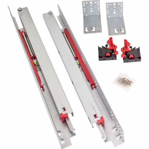 """USE58-18 18"""" Standard Duty Soft-close Undermount for 1/2"""" and 5/8"""" Material. Includes clips, rear brackets and screws. (6 Pair)"""