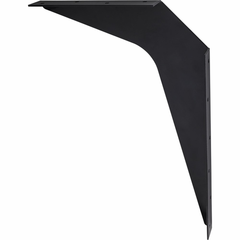 """WB15-BLK 15"""" x 21"""" Black Workstation Bracket Sold by the Pair (1 Pair)"""
