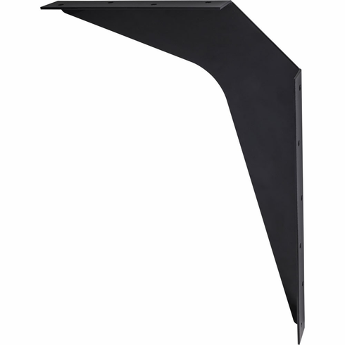 """WB8-BLK 8"""" x 12"""" Black Workstation Bracket Sold by the Pair (1 Pair)"""