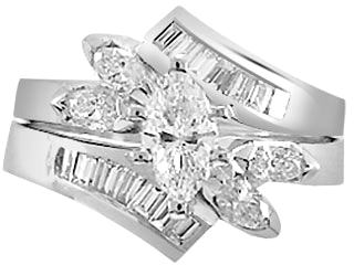 1.52 Carat Salvino Diamond 14Kt White Gold Engagement Ring