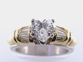 1.56 Carat GIA Certified Heart  Diamond Engagement Ring SOLD