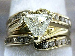 .90 Carat Trillium Cut Diamond Ring & Wrap SOLD