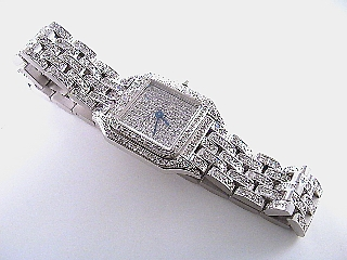 6 1/2 Carat Diamond Ladies 18K Gold Watch