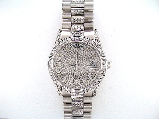 6.0 Carat Diamond 14K Gold Watch