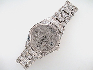 23 1/2 Carat Invisible Diamond Custom Watch