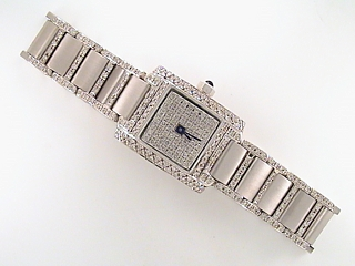 3.75 Carat Ladies Square Face Diamond Watch