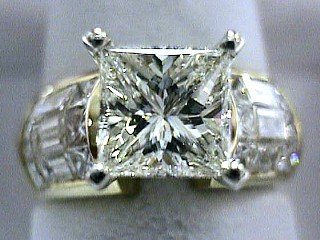 3.55 Carat Princess Diamond Engagement Ring SOLD