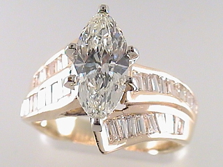 2.89 Carat Marquise Cut Diamond Engagement Ring SOLD