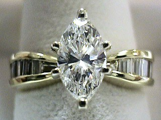 2.15 Carat One Time Marquise Cut Diamond Ring SOLD
