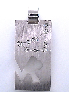 Capricorn Diamond Pendant