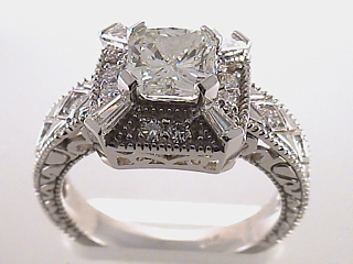 2.40 Carat EGL Radiant Cut Diamond Engagement Ring SOLD