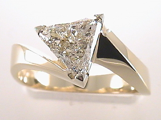 1.12 Carat Trilliant Cut Diamond Engagement Ring SOLD