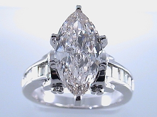 3.96 Carat One Time Marquise Cut Diamond Engagement Ring SOLD