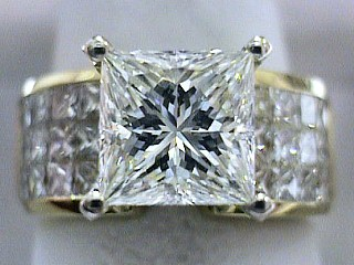 5.16 Carat EGL Certified Princess Diamond & Invisible Princess Ring SOLD