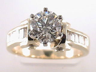 2.36 Carat Round Cut Diamond Engagement Ring SOLD