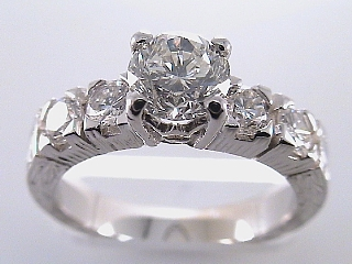 1.58 Carat EGL Certified Brilliant Cut Diamond Engagement Ring SOLD