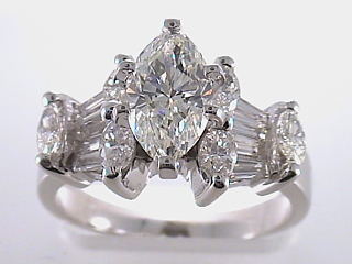 2.75 Carat Marquise Cut Diamond Engagement Ring SOLD