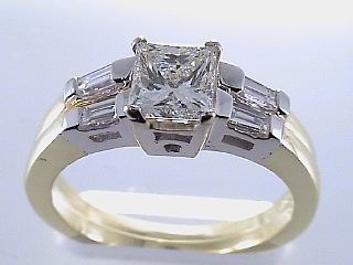 1.41 Ct. EGL Certified Princess Diamond Engagement Ring SOLD