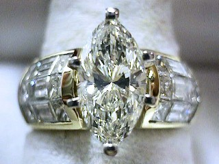 3.34 Carat Marquise Diamond & Invisible Side Diamond Ring SOLD