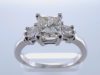 1.93 Carat Princess Cut Diamond Engagement Ring SOLD