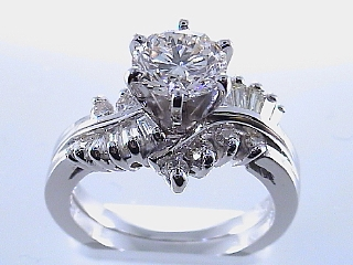 2.44Carat 2Piece Brilliant Cut Diamond Platinum Engagement Ring SOLD