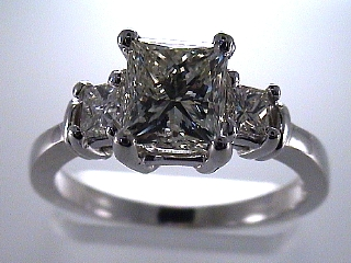 1.95 Carat One Time Three Princess Diamond Ring SOLD