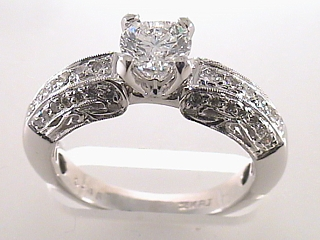 1.25 Carat EGL Round Cut Diamond Engagement Ring SOLD