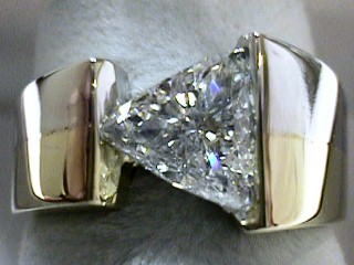 1.04 Carat Custom Made Trilliant Cut Diamond Engagement Ring SOLD