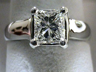 1.0 Carat GIA Certified VS2-F Princess Engagement Ring SOLD
