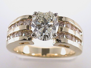 2.44 Carat Round & Channel Set Diamond Engagement Ring SOLD