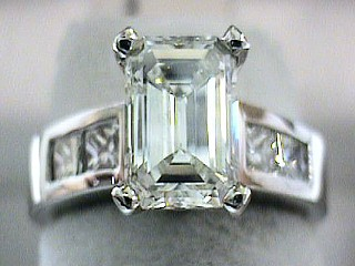 1.96 Carat EGL Certified Emerald Cut Diamond Solitaire SOLD