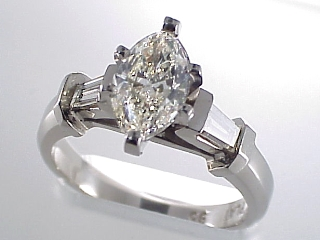 1.37 Carat Marquise Diamond & Platinum Solitaire SOLD