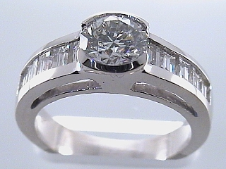 2.18 Carat GIA Certified Semi-Bezel Diamond Engagement Ring SOLD