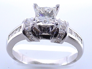 2.26 Carat Princess Cut Diamond Engagement Ring SOLD
