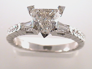 1.55 Carat Trilliant Cut Diamond Engagement Ring SOLD