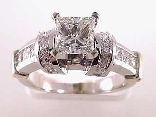 2.28 Carat EGL Princess Diamond Engagement Ring SOLD