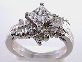 2.06 Carat  Star Set Princess Diamond Engagement Ring SOLD