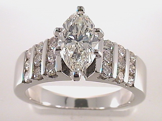 2.07 Carat Marquise Cut Diamond Engagement Ring SOLD